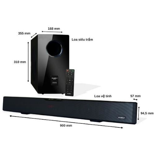Loa Vi Tinh Soundmax SB-217/2.1 Tich Hop Bluetooth
